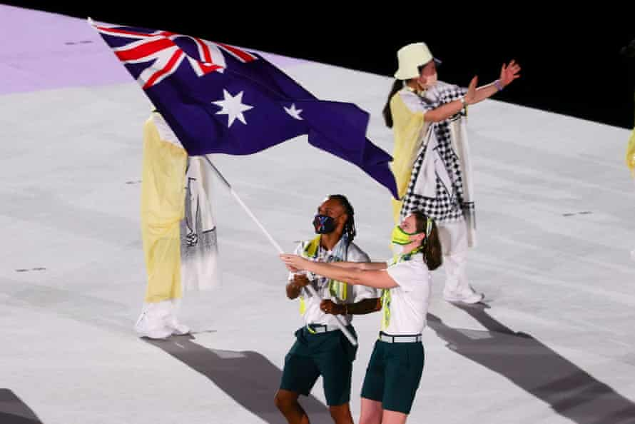 Patty Mills and Cate Campbell
