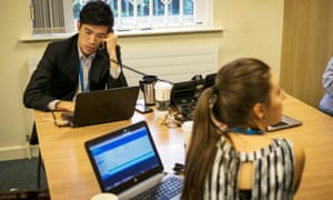 Coventry University's pop up call centre for student clearing