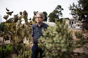 Author and birdwatcher Jonathan Franzen, at Natural Bridges Farm where he goes to birdwatch in Santa Cruz, California, September 30th, 2018.