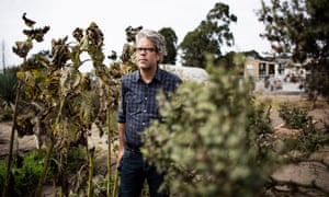 Jonathan Franzen in Santa Cruz, California, where he birdwatches.