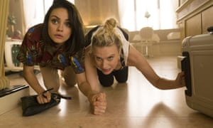 "This image released by Lionsgate shows Kate McKinnon, right, and Mila Kunis, left ( Audrey) in a scene from ""The Spy Who Dumped Me."" (Hopper Stone/Lionsgate via AP)"