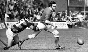 Ray Gravell starring for Llanelli in the mid 1970's