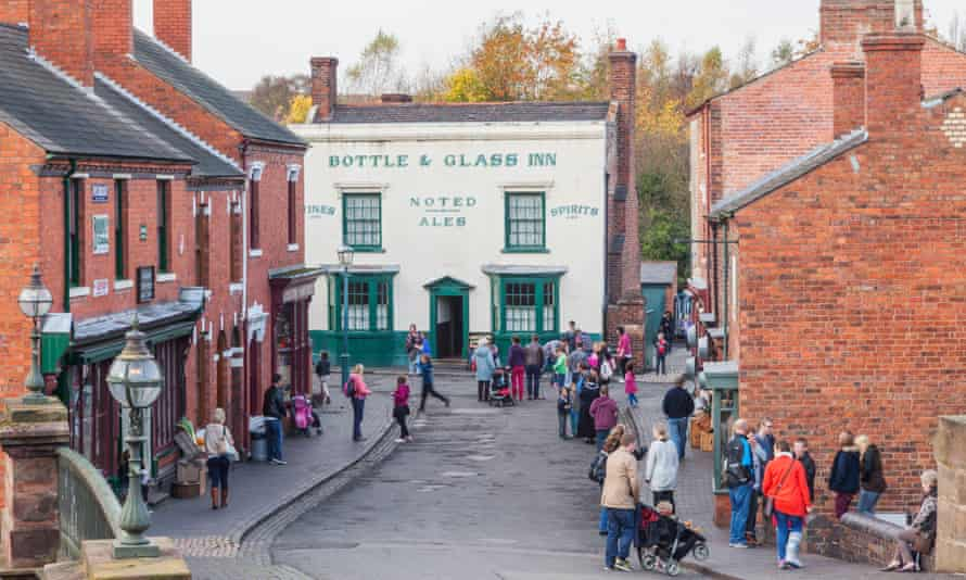 A street scene at the Black Country Living Museum.