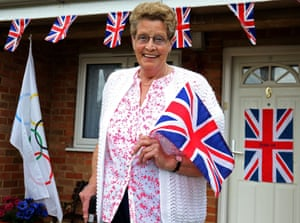 Mavis Williams, the grandmother of Adam Peaty, stands outside her home in Uttoxeter.