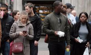 People on a London street