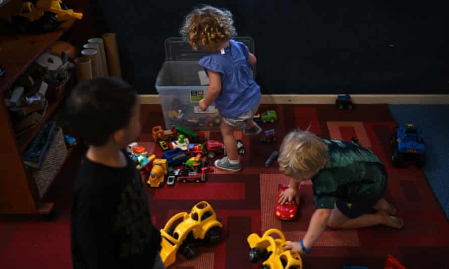 Children play in a childcare centre