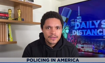 "Trevor Noah on the shooting of Rayshard Brooks by Atlanta police: ""Why are armed police dealing with a man who's sleeping in his car? These are the questions we need to ask: Why, why, why, why, why, why? Why are armed police the first people who have to go and respond to somebody who's sleeping in their car, who's drunk?"""