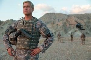 Brad Pitt as a cocky commanding general in David Michôd's War Machine.