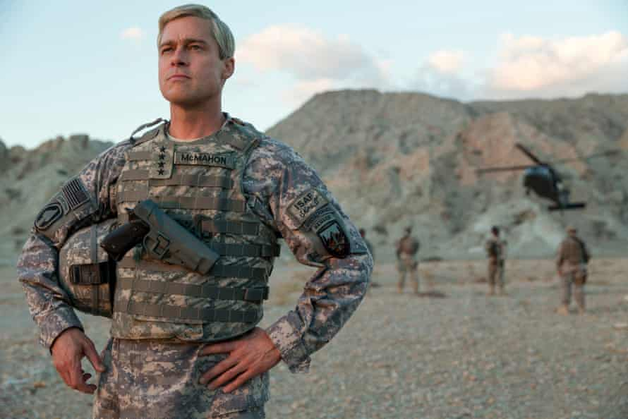 Brad Pitt as a cocky commanding general in David Michôd's War Machine.