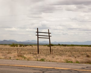 Landscape right before you enter Willcox, Arizona.