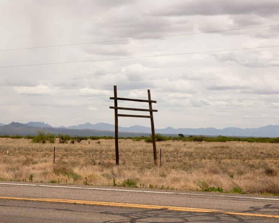 Landscape right before you enter Willcox, Arizona.
