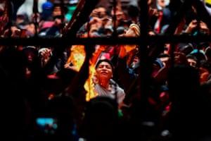 La Paz, Bolivia: Prisoners riot at San Pedro prison demanding the resignation of the prisons' director, Ernesto Vergara, after Evo Morales resigned as president leaving the country in turmoil