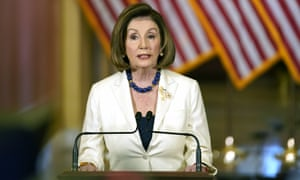 Nancy Pelosi announces that the House will continue with articles of impeachment against Donald Trump, on Capitol Hill in Washington DC Thursday.