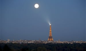Near the Eiffel tower in Paris, France.