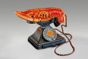 Lobster Telephone, 1938, top, by Salvador Dalí and Edward James.