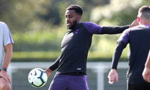 Danny Rose, pictured in training with Tottenham this week, has three years remaining on his contract.