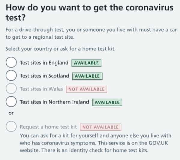 Uk Coronavirus Home Test Kits Run Out As Eligibility List Is Expanded World News The Guardian