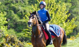 Laurens at Karl Burke's stables earlier this week.