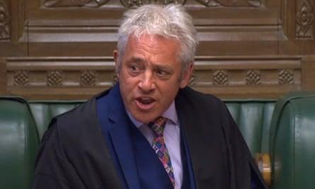 The Commons Speaker, John Bercow, in the House of Commons.