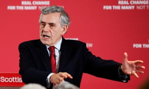 Gordon Brown campaigning for Labour during the European elections.