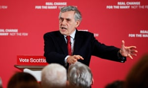 Gordon Brown says he fears for the future of the union.