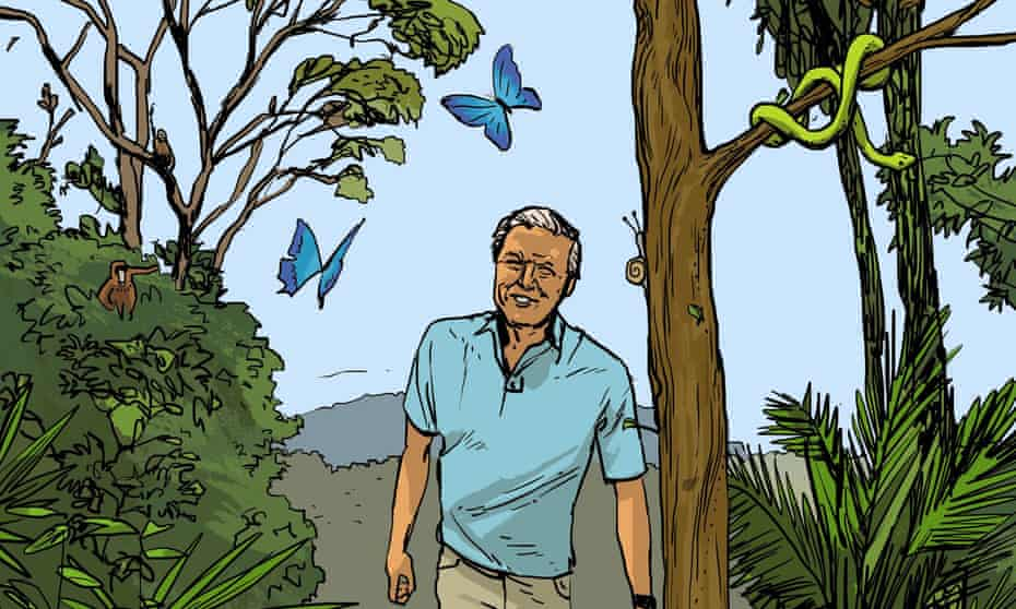 David Attenborough is among the role models celebrated in Stories for Boys Who Dare to Be Different by Ben Brooks.