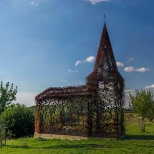 Doorkijkkerk by Gijs Van Vaerenbergh, Limburg, Flanders, Belgium.