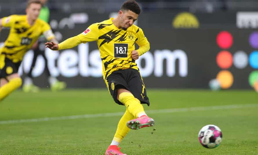 Jadon Sancho moved from Manchester City to Dortmund in 2017 for just £8m.
