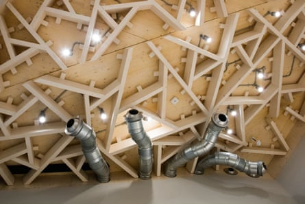 Air-con snakes … inside the new Heath Robinson Museum.