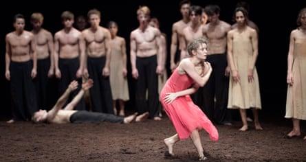 Fiercely intense … Francesca Velicu in The Rite of Spring.