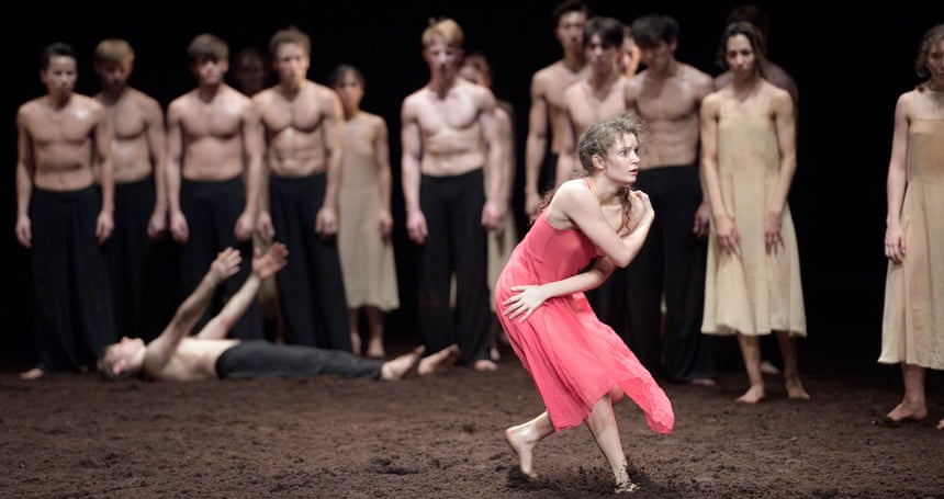 Fiercely intense … Francesca Velicu in The Rite of Spring.