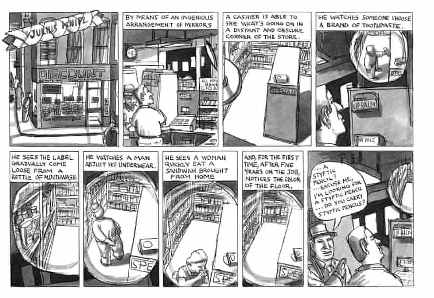 """""""A great revelation"""" from Ben Katchor's long-running cartoon Julius Knipl"""