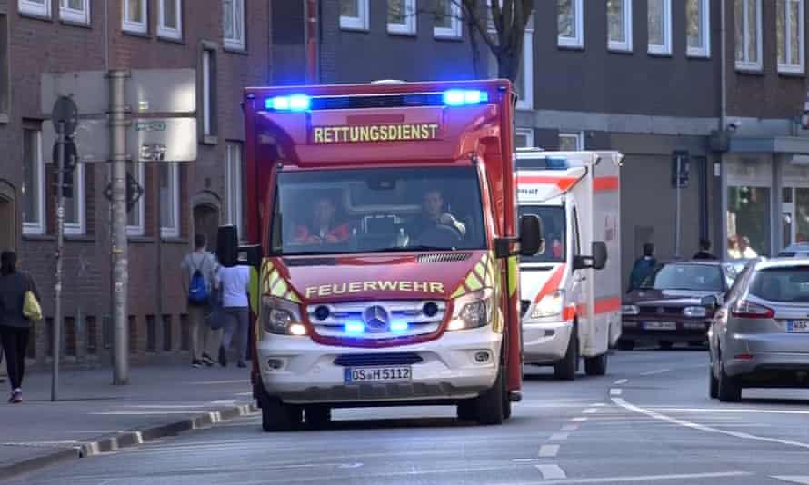 Ambulances arrive at scene of incident