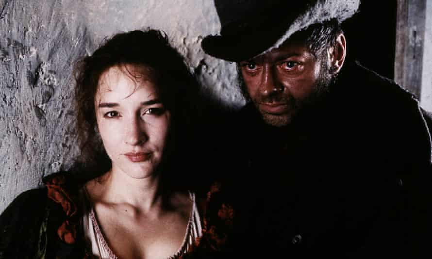Emily Woof as Nancy and Andy Serkis as Bill Sykes in the 1999 TV adaptation of Oliver Twist.
