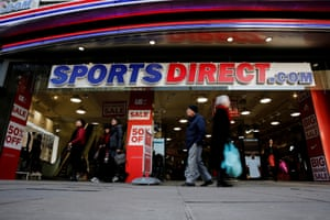 A Sports Direct store on Oxford Street in London.