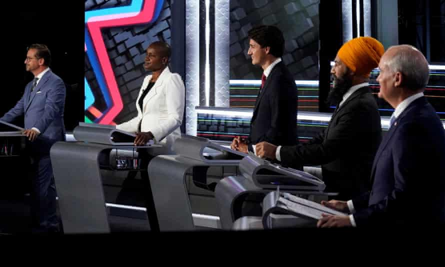 Federal election leaders debate in Gatineau, Quebec, Canada