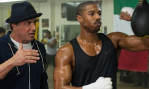 Michael B Jordan as Adonis Johnson and Sylvester Stallone as Rocky Balboa in Creed, one of the films that missed out on an Oscar nomination.