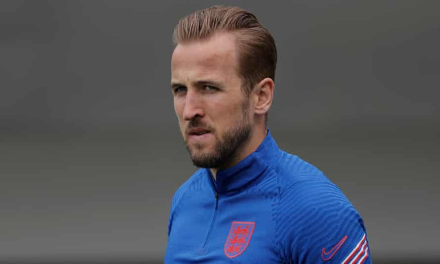 Tottenham's Harry Kane at an England training session on Saturday before their opening Euro 2020 match.