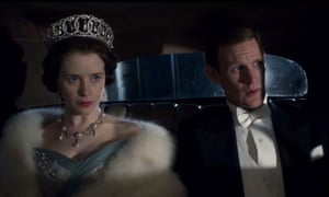 Claire Foy and Matt Smith in The Crown on Netflix.