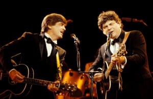 Phil and Don Everly perform at a reunion concert in 1983