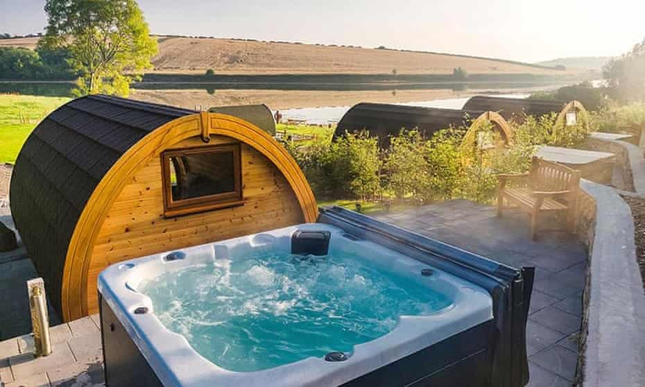 County Down's Pebble Pods take glamping to a new level of luxury with amenities such as private hot tubs