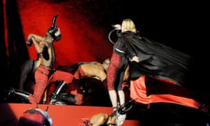 Madonna falls as she performs at the Brit awards,