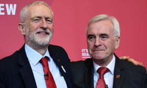 Jeremy Corbyn and John McDonnell during the general election campaign