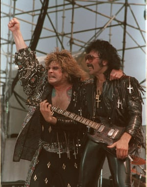 Ozzy Osbourne and Tony Iommi of Black Sabbath perform during the Live Aid concert in Philadelphia July 13, 1985.