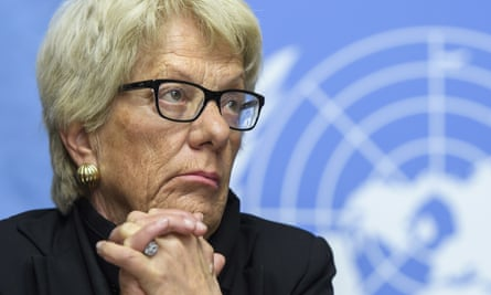 Carla del Ponte says quit as a member of the UN commission of inquiry on Syria because her role had come to be an alibi for inaction.