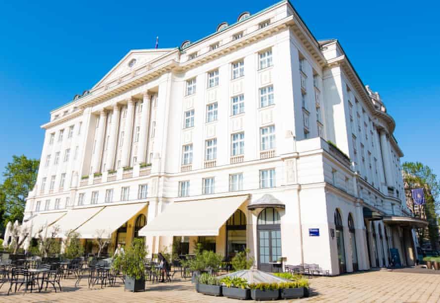 Facade of Hotel Esplanade, Zagreb, Croatia