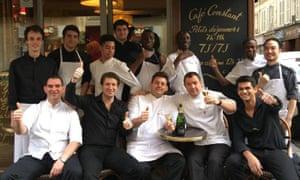 Café Constant staff, Paris