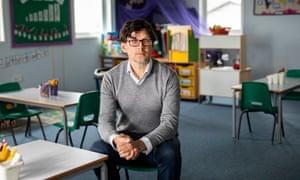 Headteacher Ashley Parry at Thornsett primary school in New Mills, Derbyshire.