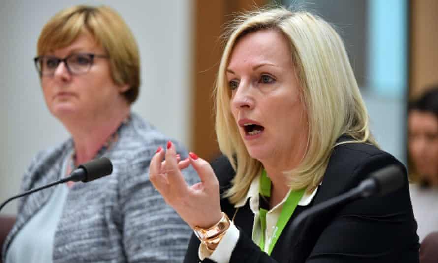 Australia Post CEO Christine Holgate during Senate Estimates hearings at in Canberra