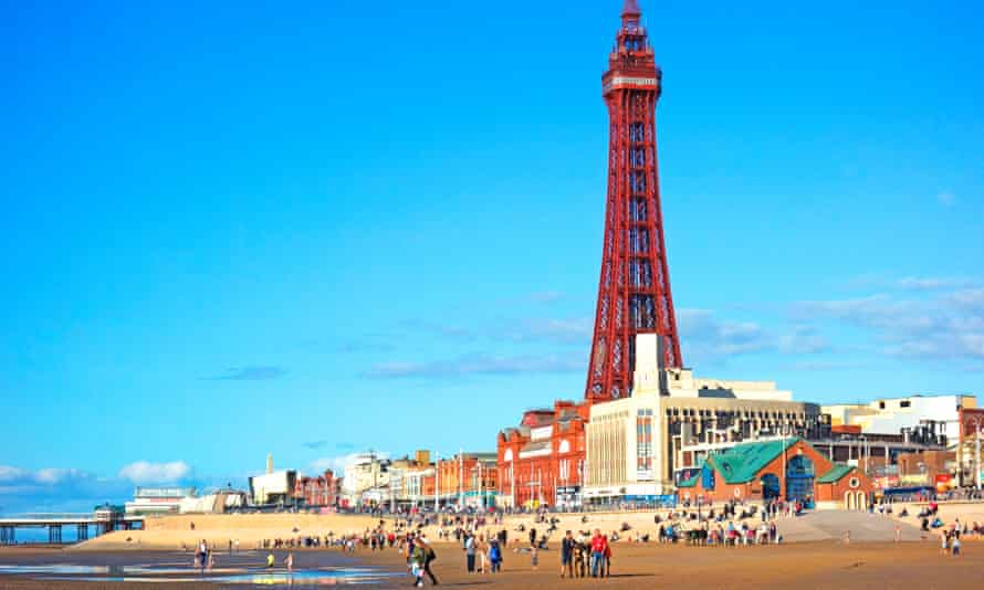 Bright lights, big tunes … the beach at Blackpool Tower